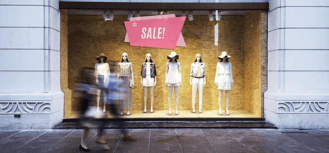 custom sale decal on store window